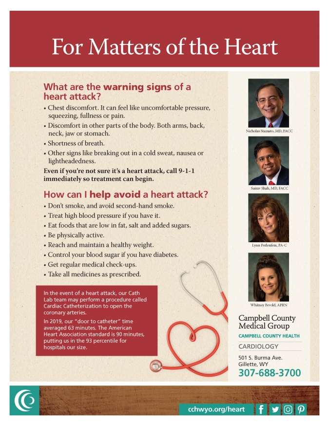 Heart attack prevention poster